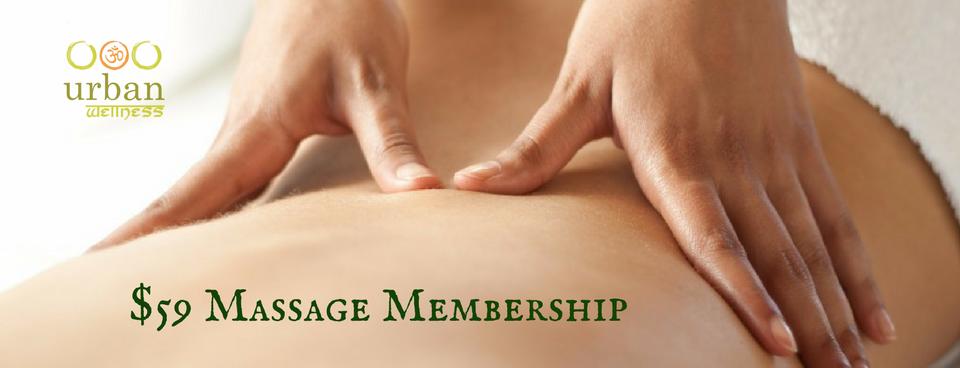 Massage Membership at Urban Wellness